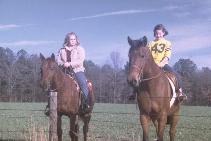 8. Horseback in Hopkins, South Carolina in 1968.