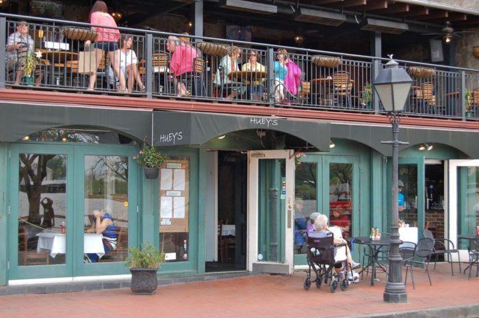 6. Huey's On the River—115 E River St, Savannah, GA 31401