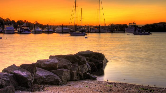 2. The break of dawn over at Pine Orchard Yacht Club is absolutely mesmerizing.
