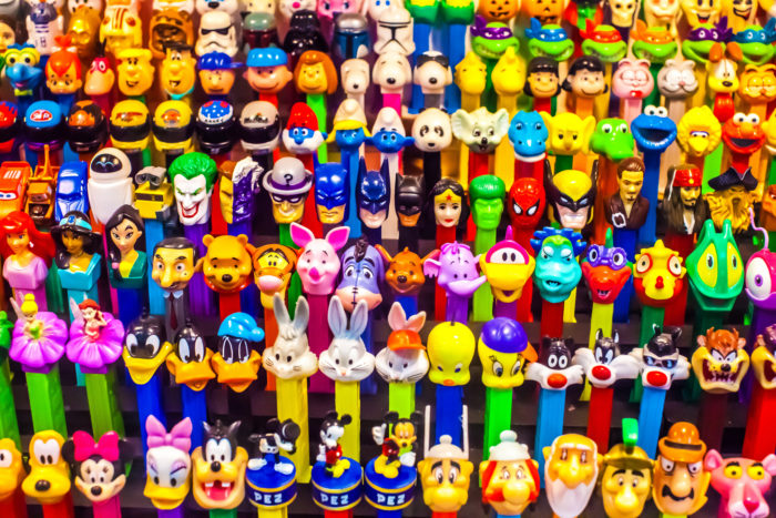 3. Beef up your PEZ collection at IT'S SUGAR at 1211 Celebrity Circle in Myrtle Beach.