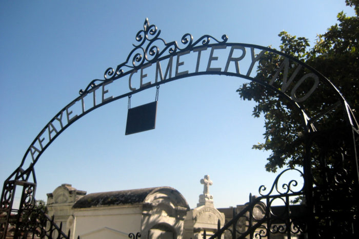 5) Lafayette Cemetery No. 1, 1400 Washington Ave.