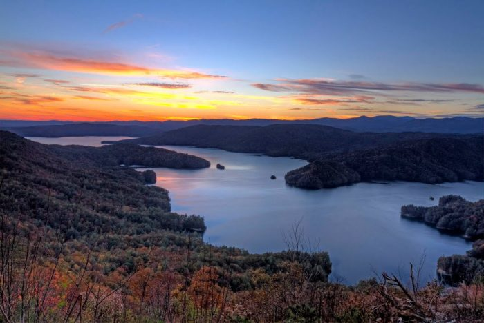"""2. Lake Jocassee is breathtaking from this vantage point on """"jumping off rock."""""""