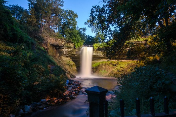 15. Check out Minnehaha Falls! With an equally stunning park to match it, the falls can be viewed from multiple spots. Most of the views from above are wheelchair accessible.