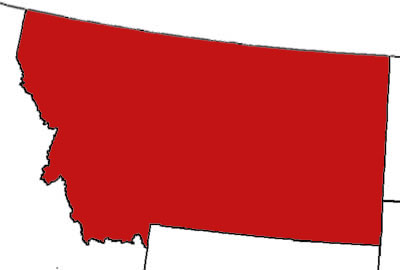 heres a map of the parts of montana where people are known to be armed
