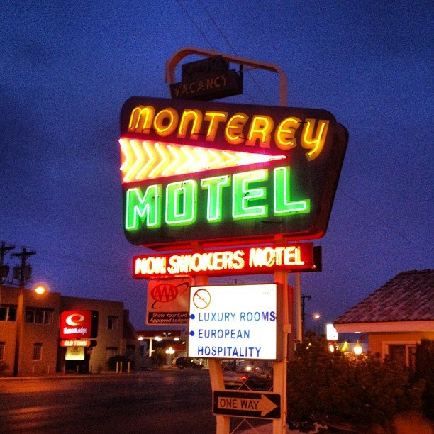 3. Stay at the Monterey Non-Smokers Motel in Albuquerque.
