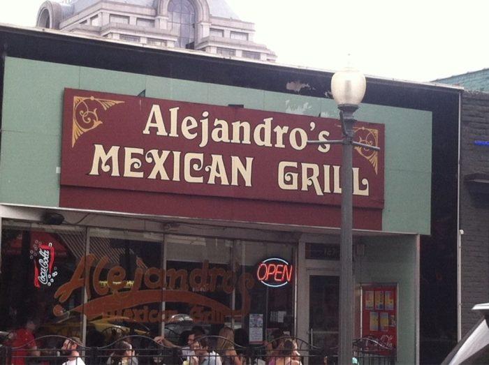 5. Alejandro's Mexican Grill (Roanoke)