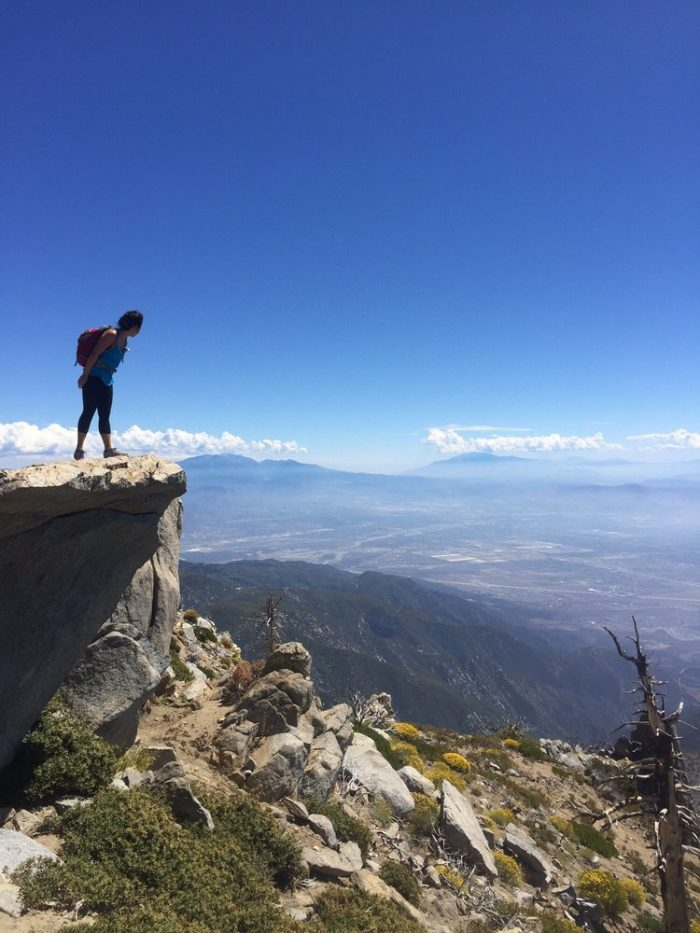 7. Looking out at the view from Cucamonga Peak will take your breath away.