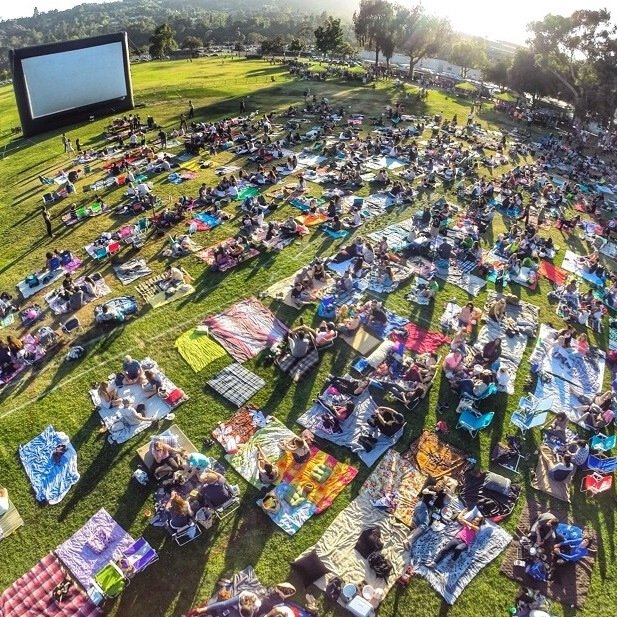4. Indulge in a picnic on the grass at Exposition Park for Street Food Cinema.