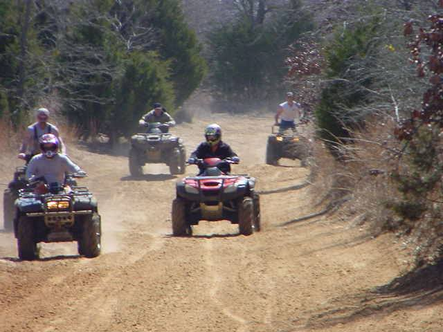 The park contains over 1,000 acres of trails perfect for ATV riding.