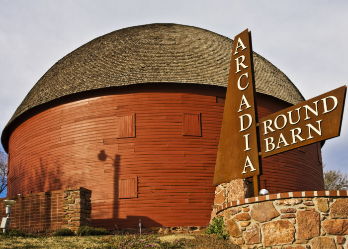 1. The Round Barn in Arcadia is the  most photographed and famous barn on Route 66.