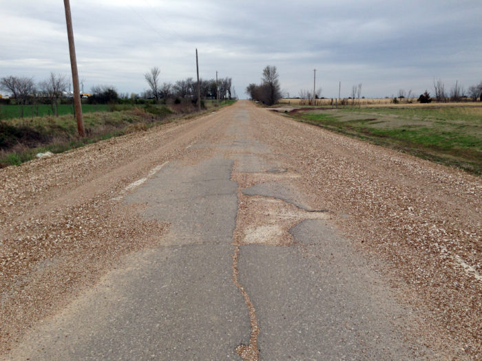 5. The Ribbon Road - just one paved lane of Old Route 66 - is still driveable just outside of Miami, Oklahoma. The road is only 9-ft. wide.