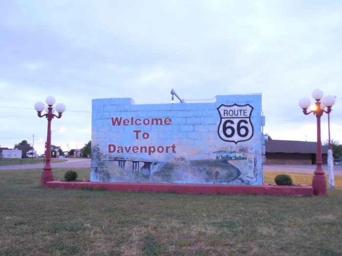 11. The tallest mural on Route 66 is located on a wall in Davenport, Oklahoma.