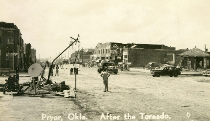 The town's two hospitals were also destroyed.