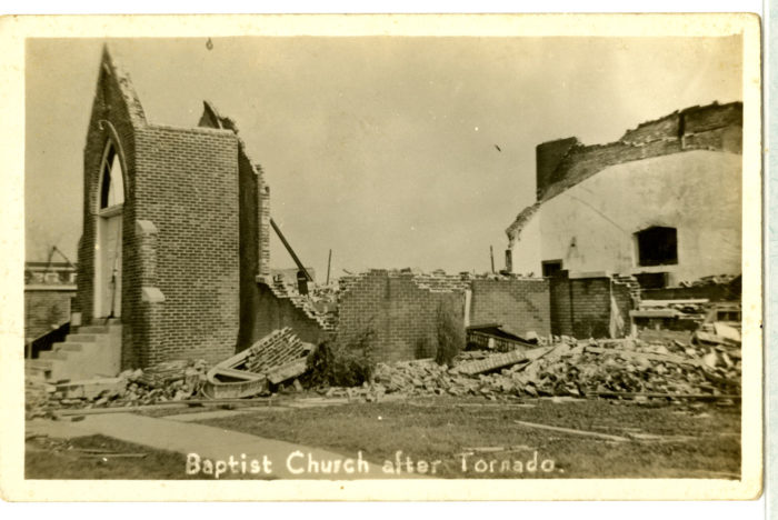 The local Baptist Church was left without a house of worship.