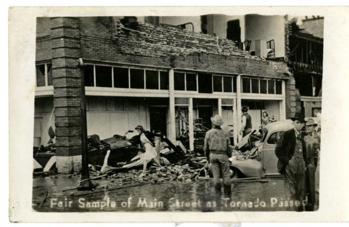 Main Street sustained the worst of the damage.
