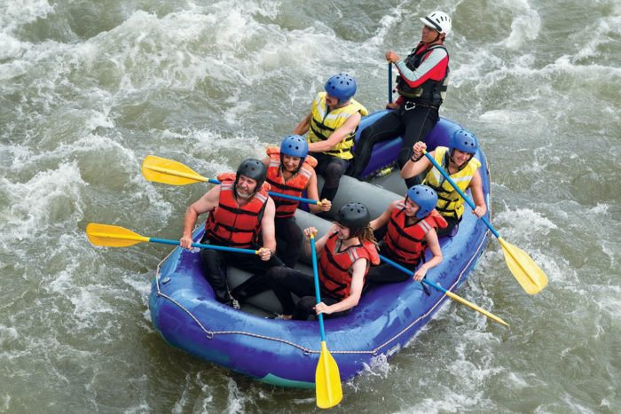 Enjoy whitewater rafting knowing you'll be safe with a trained guide and controlled rapids.