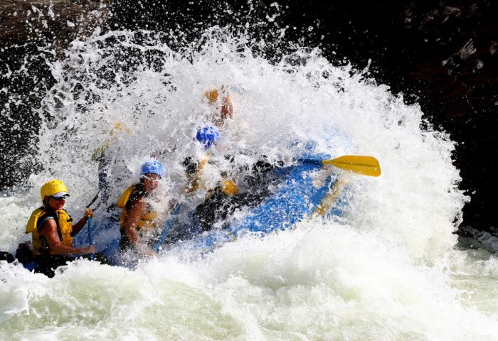 Riversport Rapids offers Class II-IV rapids, so just about everyone can enjoy whitewater rafting.