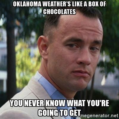1. The bipolar weather.