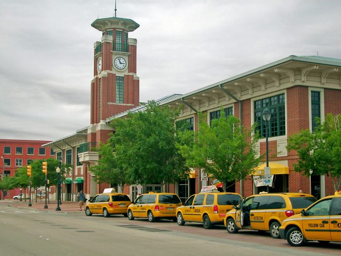 Once you arrive at the Fort Worth station, you can catch a cab to take you around Fort Worth.