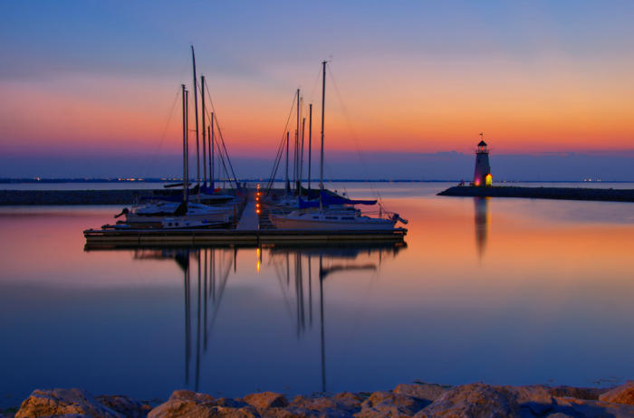 14. Lake Hefner looks otherworldly in this spectacular photo.