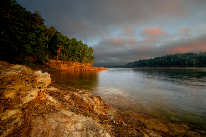 6. Beavers Bend State Park looks eerily beautiful on this stormy morning.