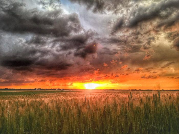 5. This mesmerizing sunset in Ponca City will take your breath away.
