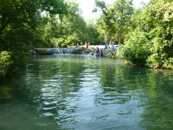 The area is a popular swimming hole in the summer.