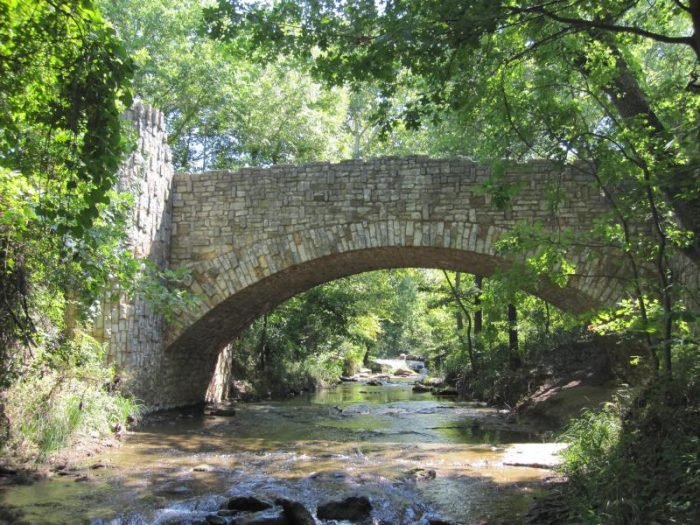 The Lincoln Bridge is a beautiful piece of Civilian Conservation Corps architecture - dating back to the 1930s.