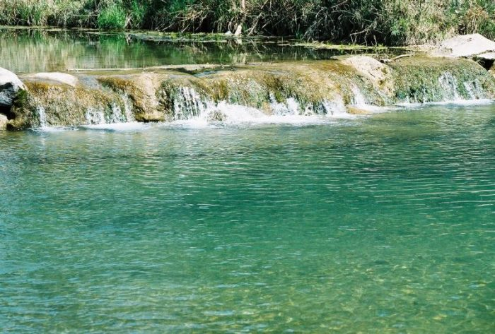 The cool, crystal-clear waters of Travertine Creek are gorgeous.