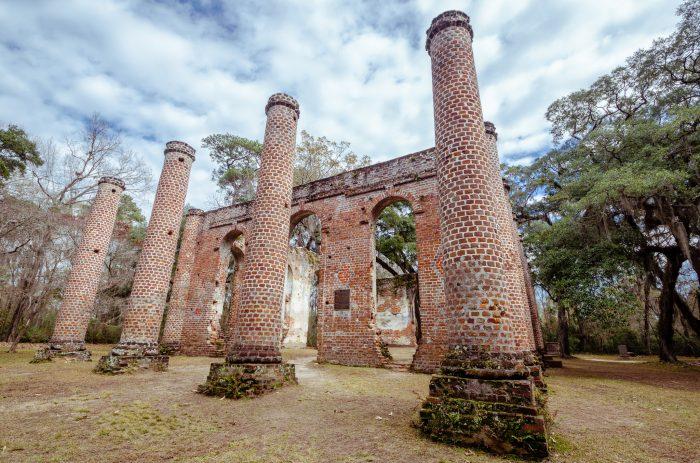 8. Old Sheldon Church ruins in Yemassee, SC