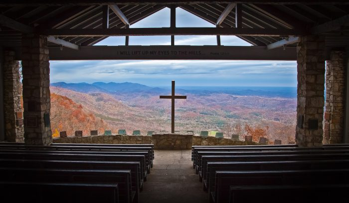 """1. The inspirational chapel, known as """"Pretty Place,"""" is at the YMCA's Camp Greenville in Cleveland, SC."""