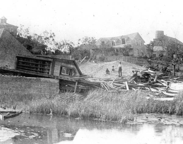 View of residence remains after the 1935 Labor Day hurricane - Cedar Key
