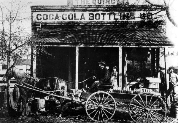 The First Load of Coca-Cola bottled in Quincy, 1908