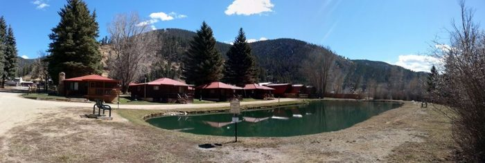 lodge new riverside fun mexico colorado cabins all rio oukas cabin year round red best river tags nm amp info
