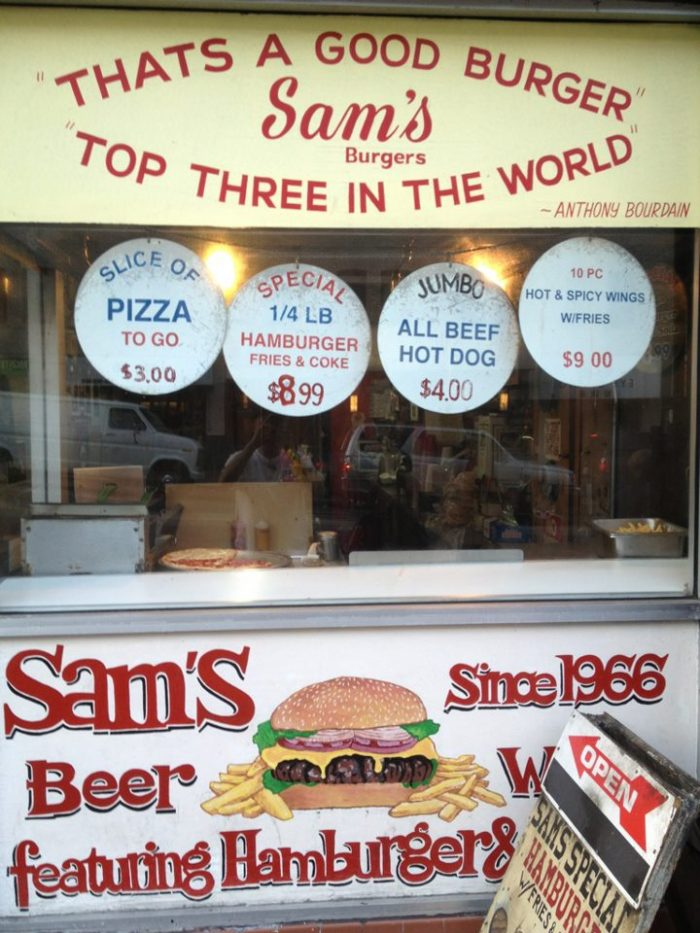 7. Sam's Pizza & Hamburgers