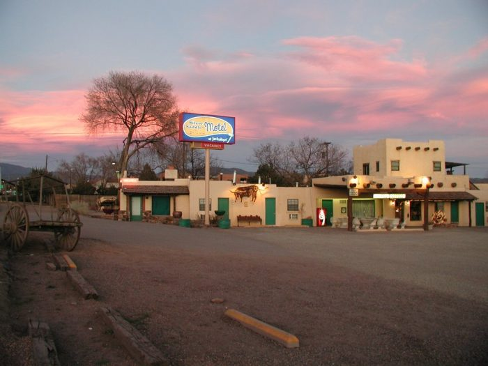 2. Take a city break on a budget at the Silver Saddle Motel in Santa Fe.
