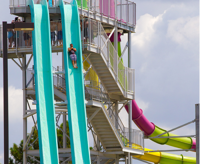 They have everything from heart-pumping speed slides (seriously, how awesome does this look?!)...