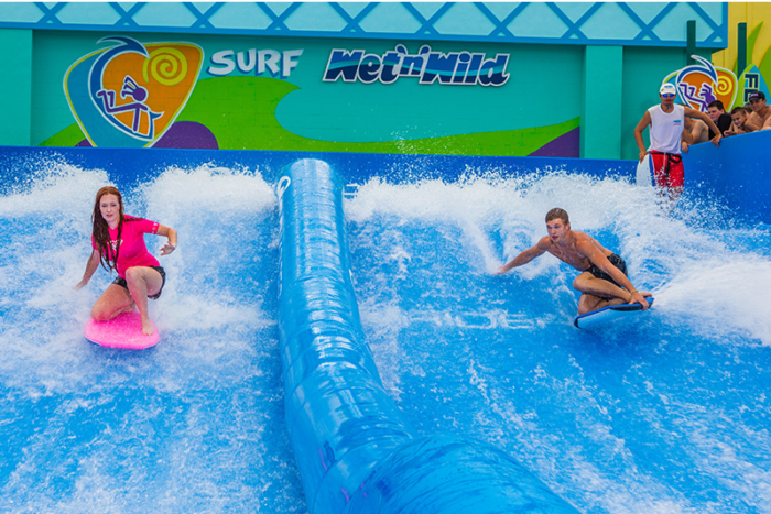 They've also added a surfing simulator aptly named 'FlowRider' that'll make you feel like you're hanging ten out in Hawaii (okay, not quite).
