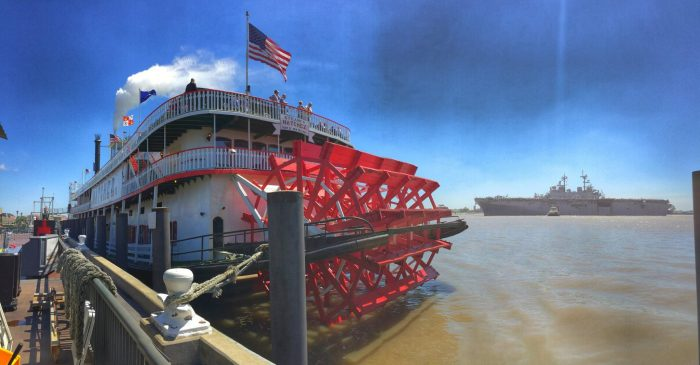 9) Steamboat Natchez, Toulouse St. Wharf, New Orleans