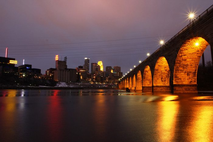5. The Stone Arch bridge is not only an iconic structure in the cities, but it is practically made for sunset viewing.
