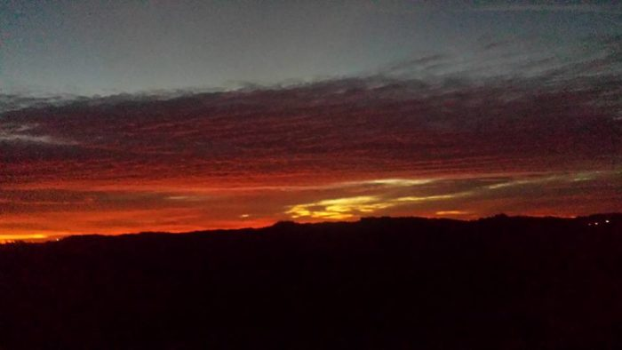 1. Grab your cup of java and enjoy a gorgeous West Virginia sunrise from the back porch.