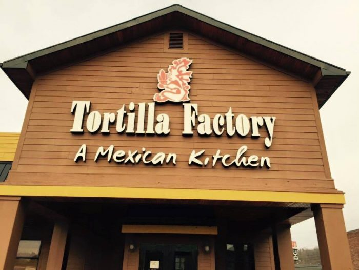9. Tortilla Factory, 3419 U.S. Route 60, Barboursville