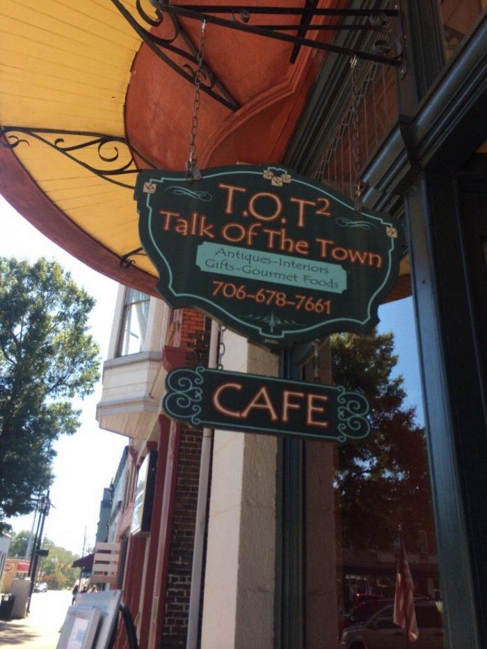9. Talk of the Town— 10 West Square, Washington, GA 30673