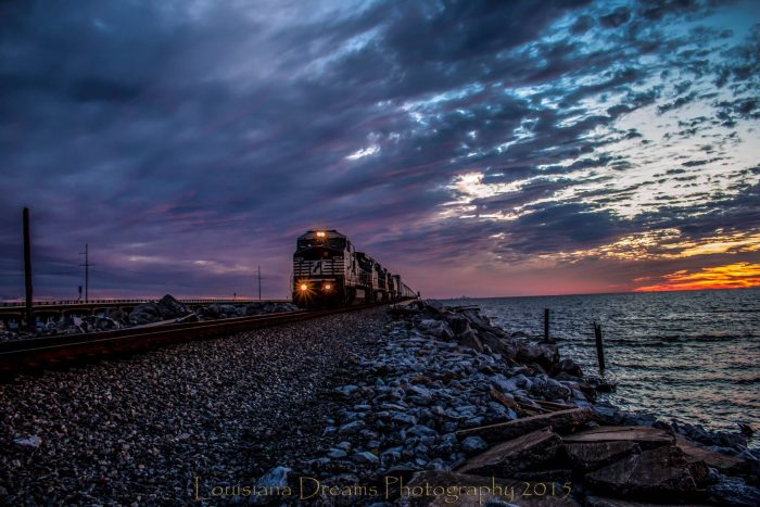 5. Train Crossing Lake Pontchartrain