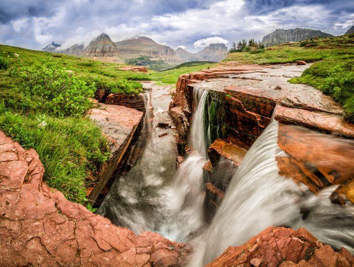 6. Triple Falls at Glacier National Park