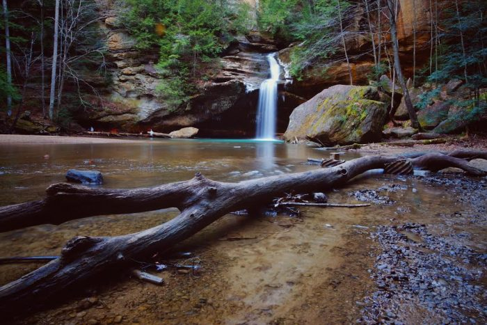 2. Cedar Falls at Old Man's Cave in the Hocking Hills is a tranquil, yet inspiring, sight to behold.