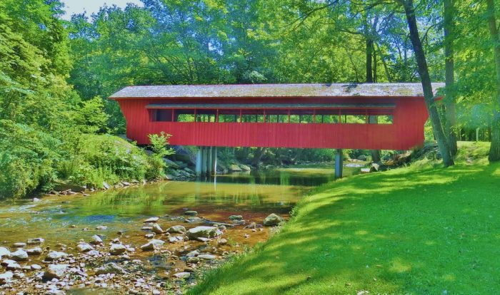 12. This covered bridge in Sidney is a lovely sight to behold.