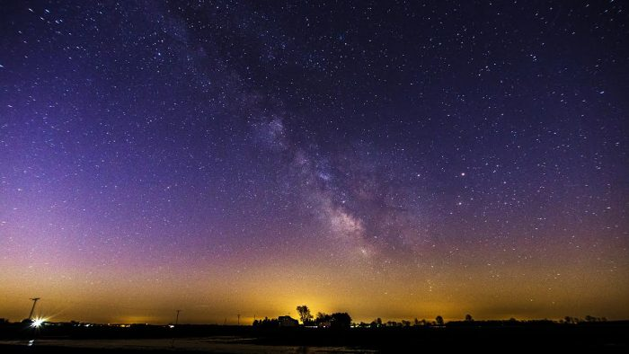 10. The photographer of this beautiful picture captured the Milky Way just south of Bellevue.