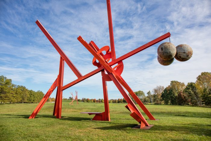 In 1975, five wonderful pieces of art by Mark di Suvero were added to the park.