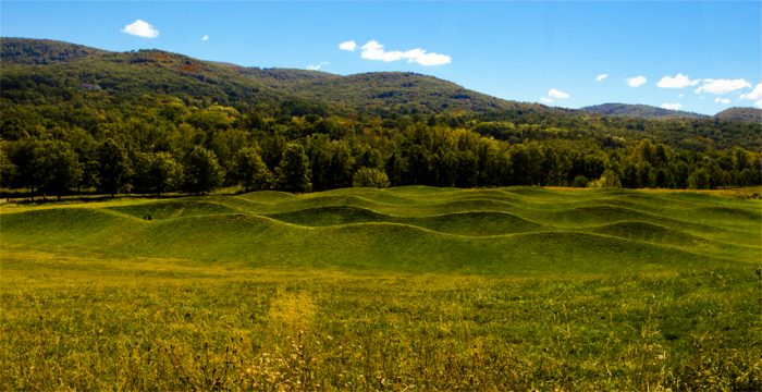 One of the most eye-catching attractions? Artist Maya Lin's Wave Field.